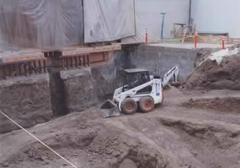 Orange County, CA demolition - site excavation