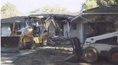 Laguna Niguel, California home demolition